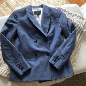 Banana Republic chambray blazer double breast sz 0